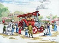 Steam Engine Counted Cross Stitch from All Our Yesterdays by Faye Whittaker FW7
